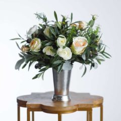 olivia silk flower centerpiece - something borrowed blooms