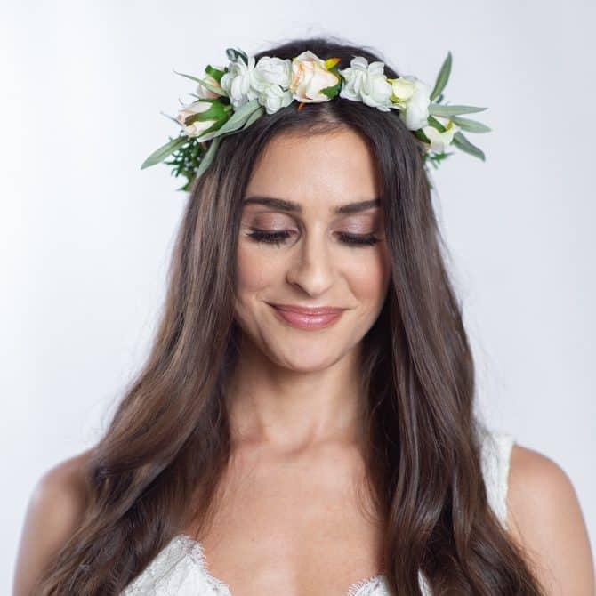 olivia wedding flower crown - something borrowed blooms