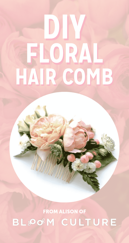 DIY WEDDING HAIR COMB