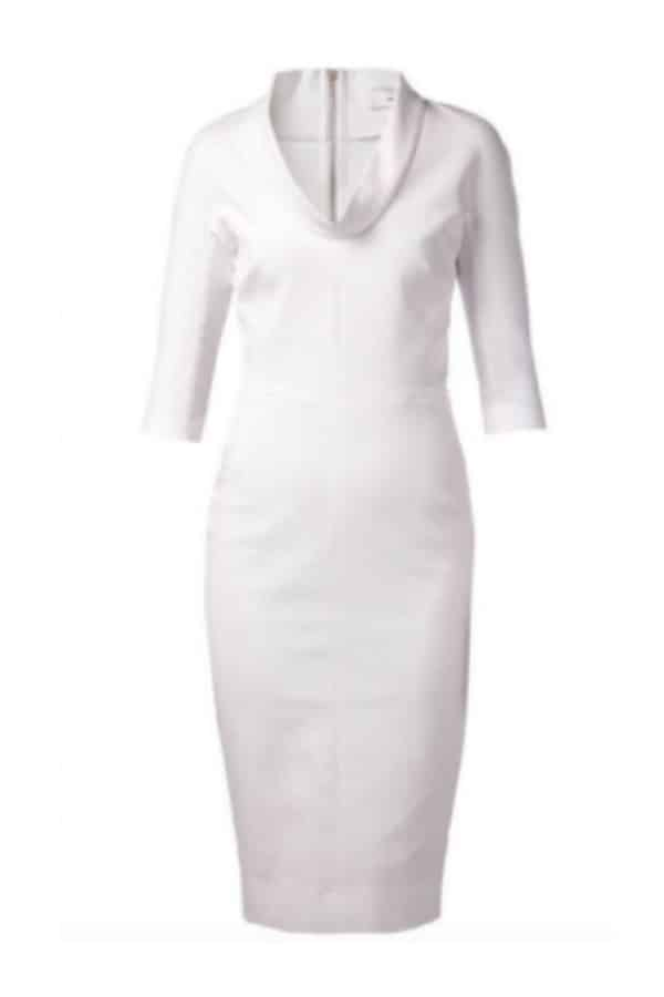 LITTLE WHITE PENCIL SHAPED DRESS By Heartmycloser