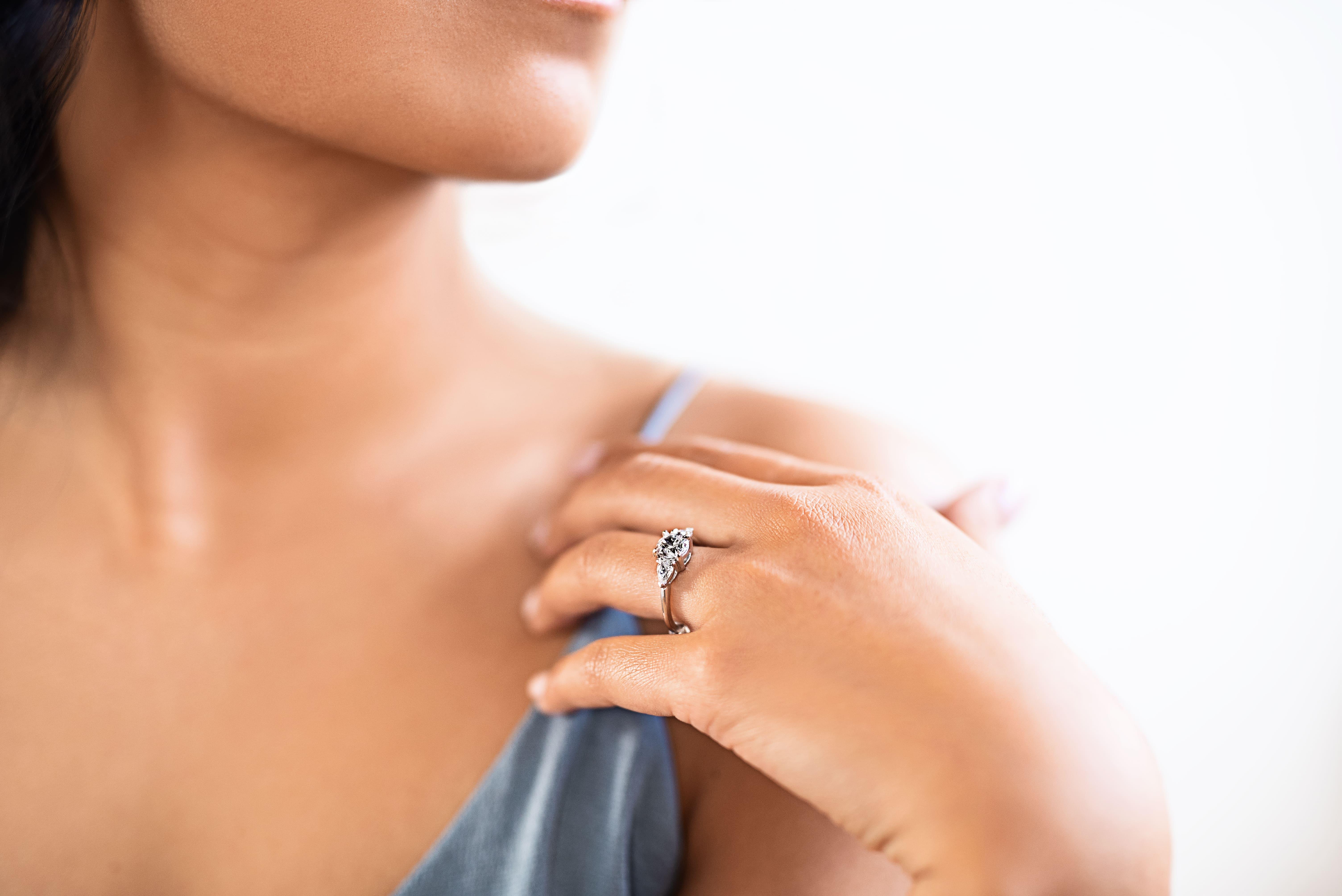 Petite Collection Wedding Set - Lab Grown Diamond Engagement Rings - MiaDonna
