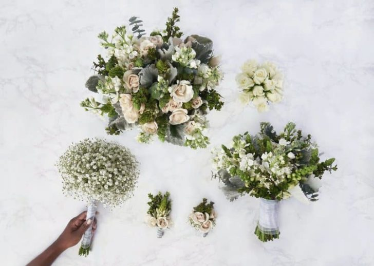 Save money on your wedding flowers with these pre-arranged wedding flower packages from The Bouqs