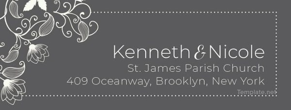 """""""They"""" say nothing is free. We beg the differ. Our list of wedding freebies will get you free wedding stuff with just the click of your mouse, including this Wedding Address Label Template."""