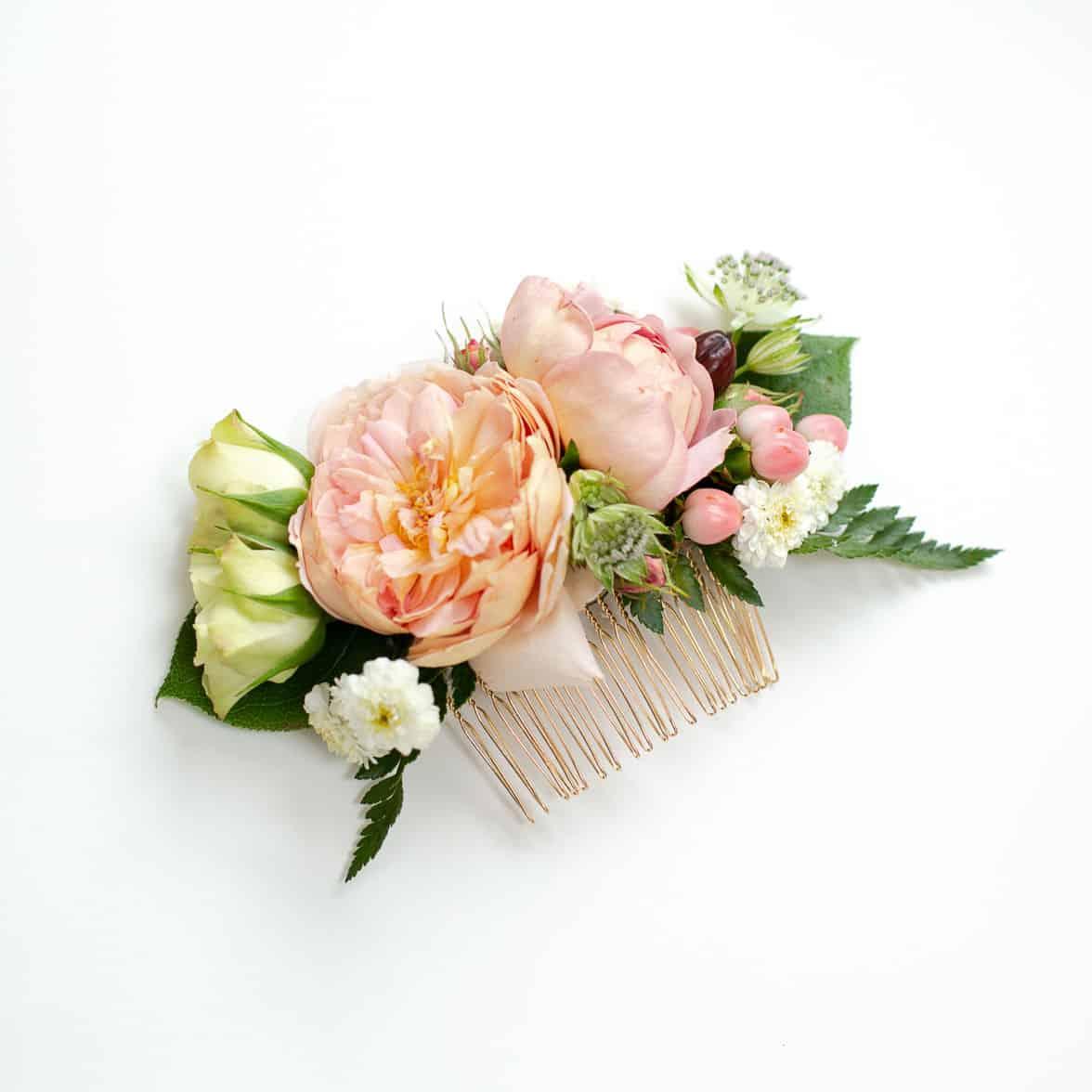 diy floral hair comb tutorial