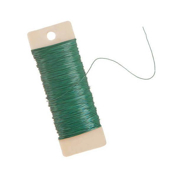 green floral wire - paddle wire