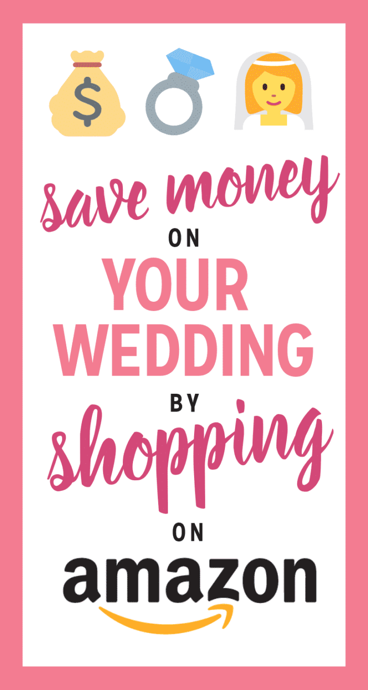 save money on your wedding by shopping on amazon