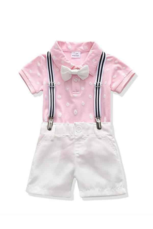 Bowtie And Suspenders Outfit By Mini Owl | Affordable Ring Bearer Outfits And Accessories from Amazon