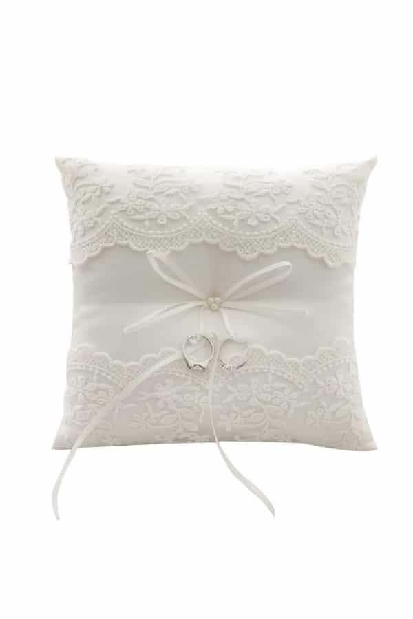 Lace Pearl Wedding Ring Pillow By Awtlife