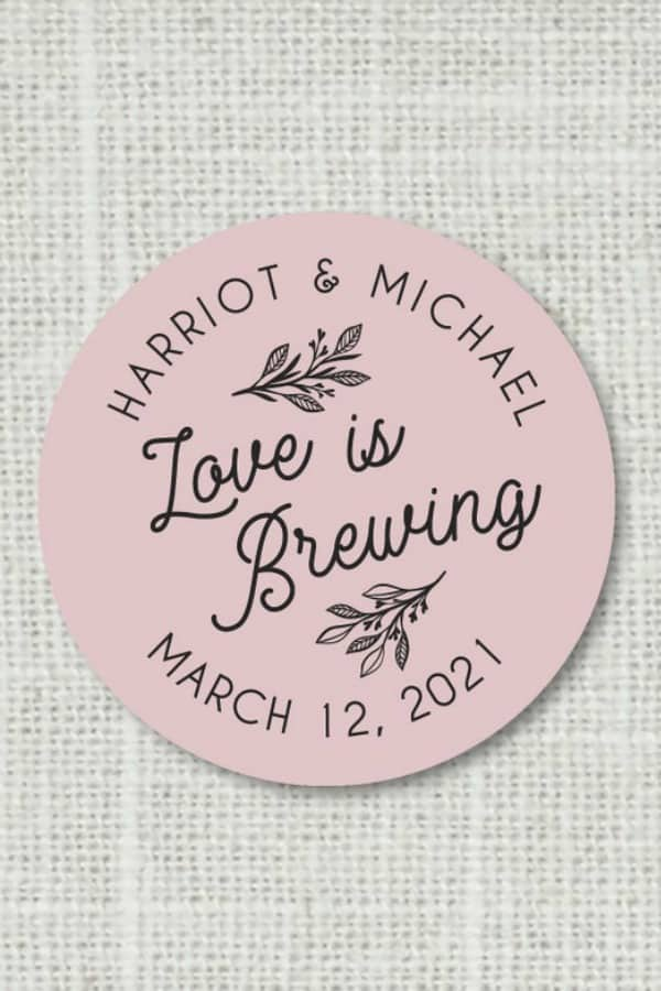 Love Is Brewing Stickers By PortOfReveriePress