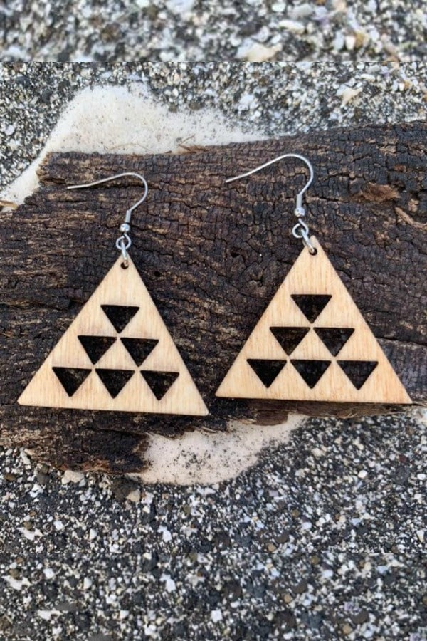 Mauna Kea Handmade Wood Earrings  By HawaiianJungleDesign | Seventh Anniversary Gifts - gift ideas for your 7th wedding anniversary