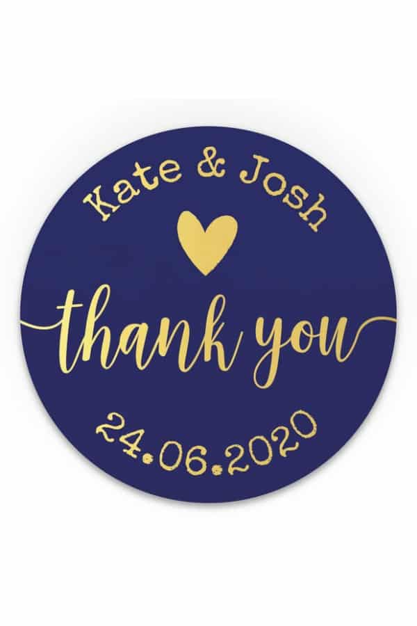 Personalized Thank You Stickers By BloomsPrint