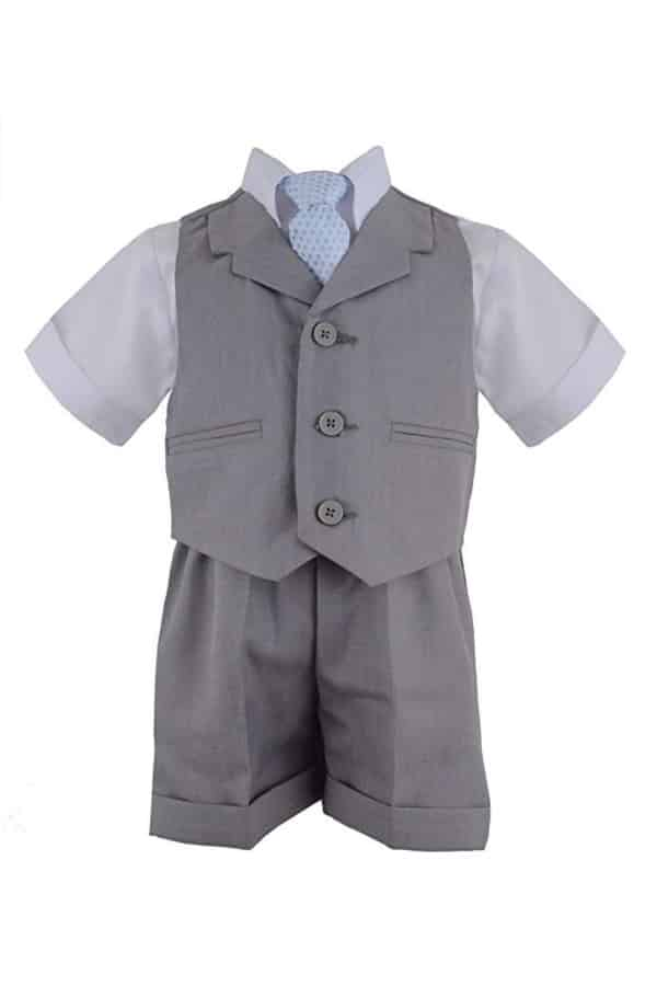 Shorts And Vest Set By Gino Giovanni | Affordable Ring Bearer Outfits And Accessories from Amazon