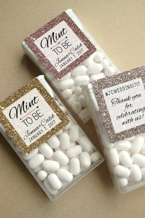 Tic Tac Wedding Favor Labels By dotandbowpaperie
