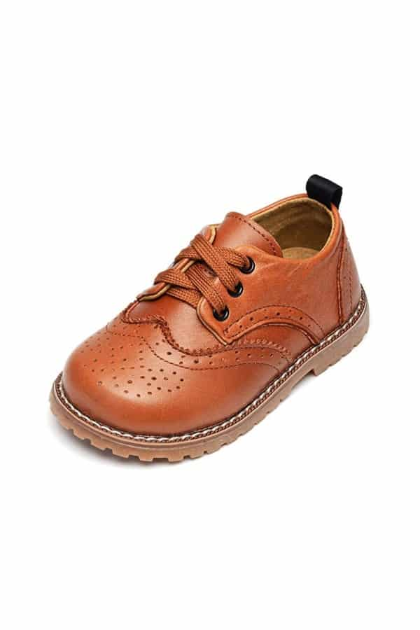Toddler Leather Oxfords Shoes By UBELLA