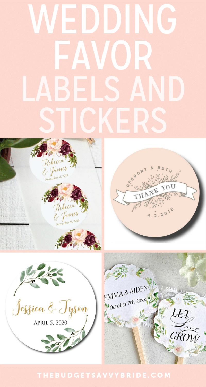 20 Wedding Favor Labels and Stickers to Personalize Your Day from ETSY - Wedding finds from Etsy!