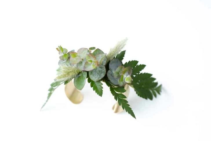 bloom culture flowers - diy wedding flower cuffs - corsage alternative