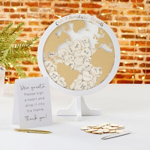 etsy globe guestbook