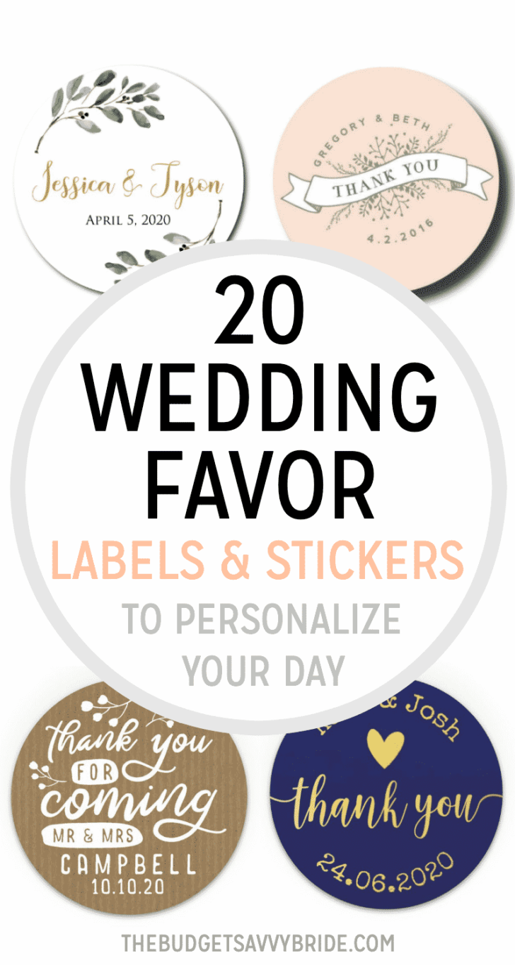 20 Wedding Favor Labels and Stickers to Personalize Your Day ETSY