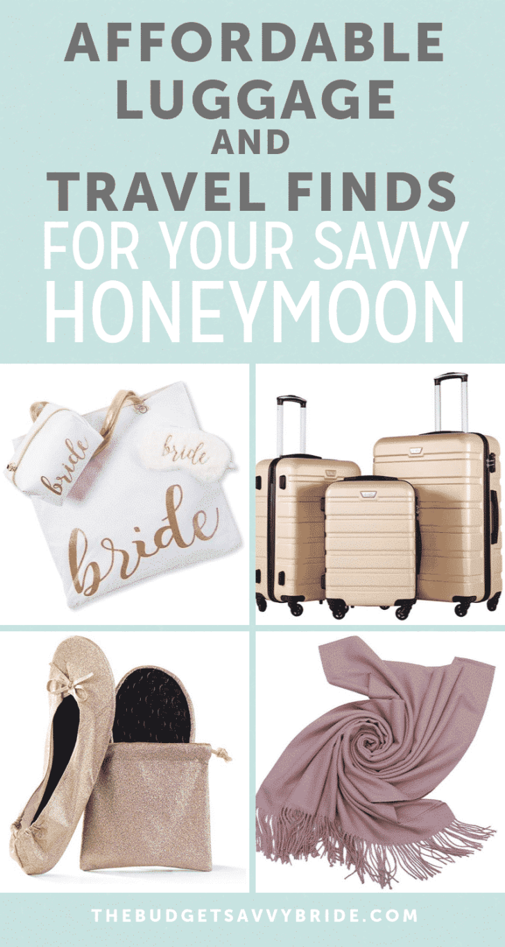 affordable luggage and travel finds for your honeymoon
