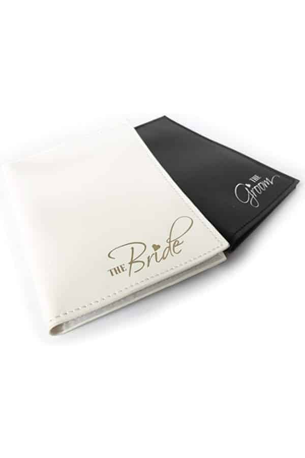 Bride And Groom Passport Holders | affordable luggage and travel finds for your honeymoon