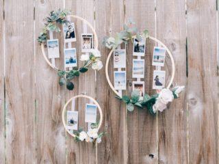 DIY Wedding Photo Display Embroidery Hoop Photo Display Wedding Decorations