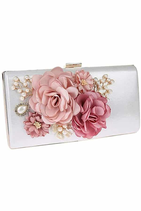 Floral Adorned Evening Bag - Bridal handbags for your wedding day