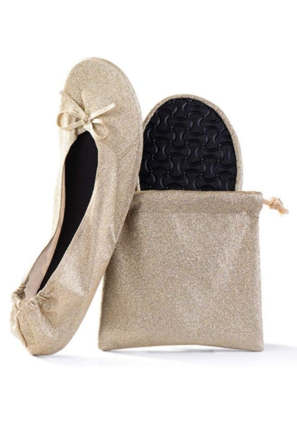 Foldable Portable Travel Ballet Flats | affordable luggage and travel finds for your honeymoon