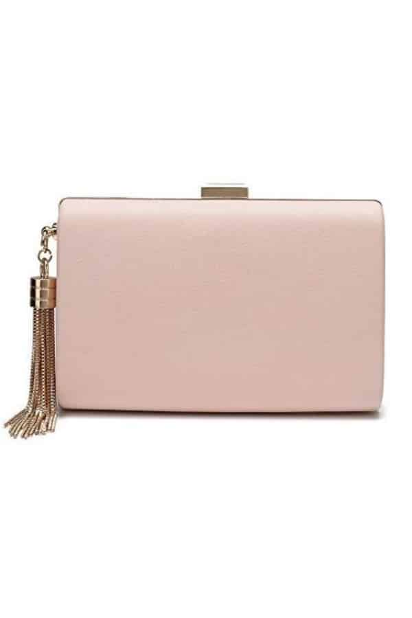 Leather Bridal Clutch With Tassel - Bridal handbags for your wedding day