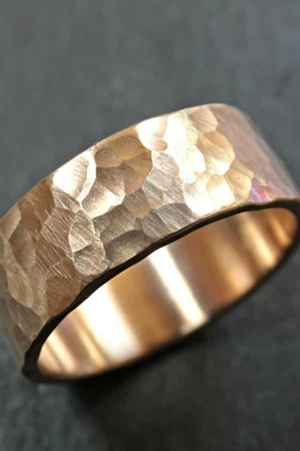 Men's Bronze Ring - 8th Wedding Anniversary Gift Ideas | Gifts for 8th Anniversary
