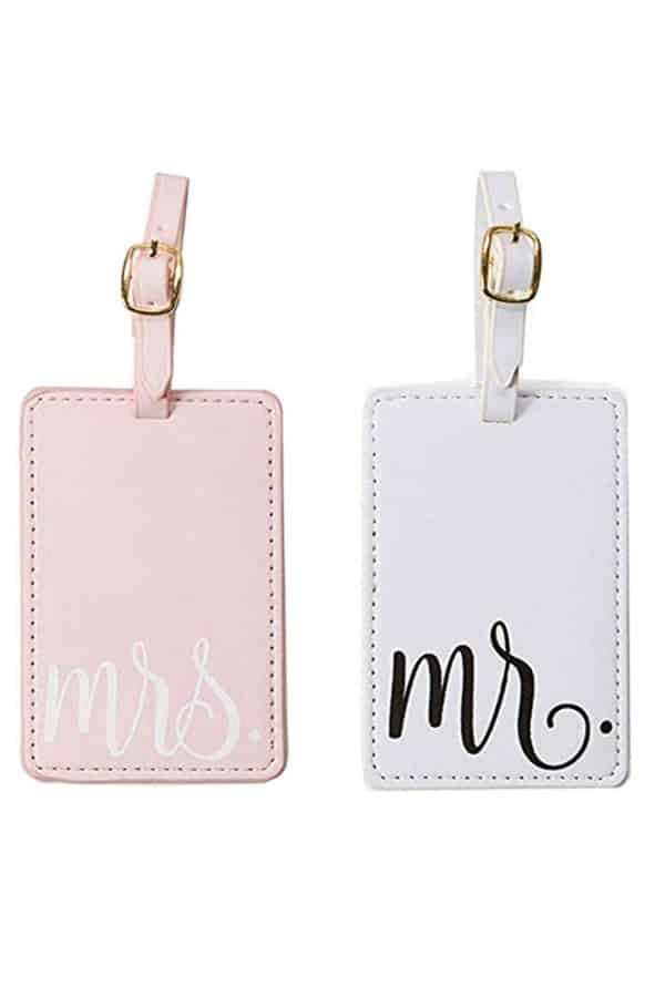 Mr And Mrs Luggage Tags | affordable luggage and travel finds for your honeymoon
