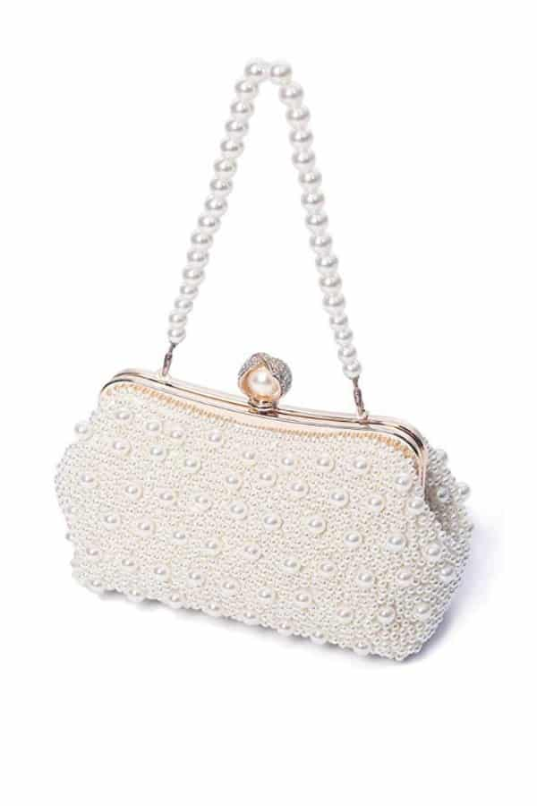 Pearl Beaded Evening Bag - Bridal handbags for your wedding day