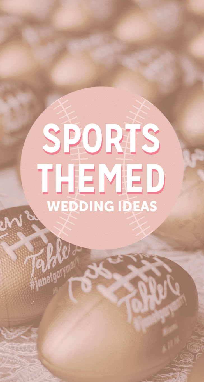 Sports Themed Wedding Ideas