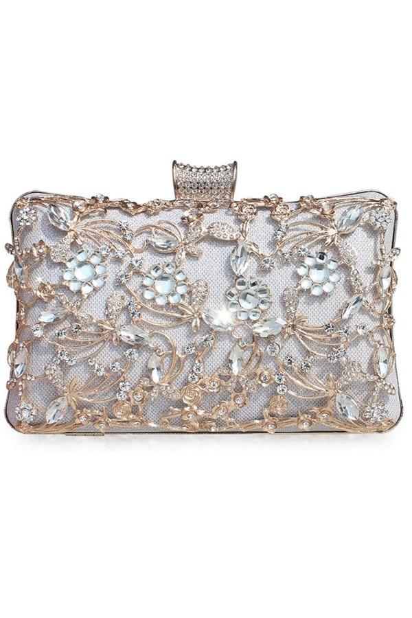 Crystal Clutch Rhinestone Evening Bag - Bridal handbags for your wedding day