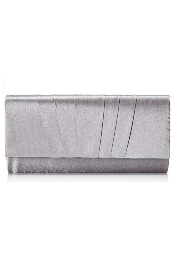 Satin Pleated Clutch Bag - Bridal handbags for your wedding day