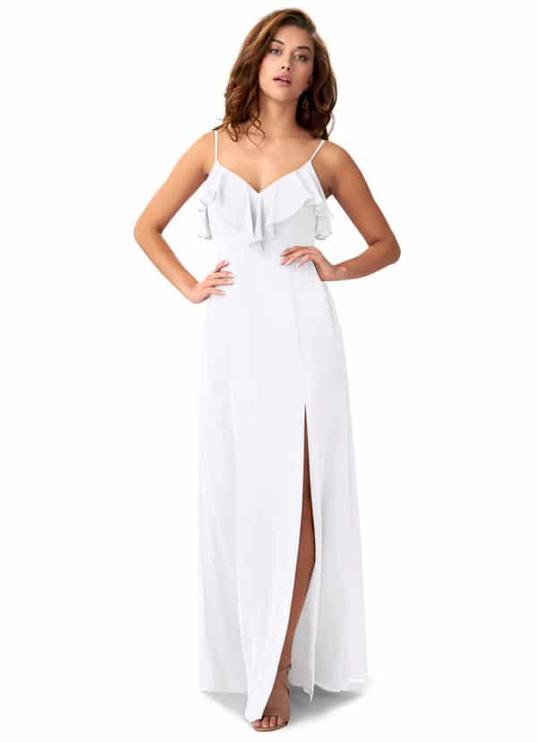 azazie white bridesmaids dresses natalia