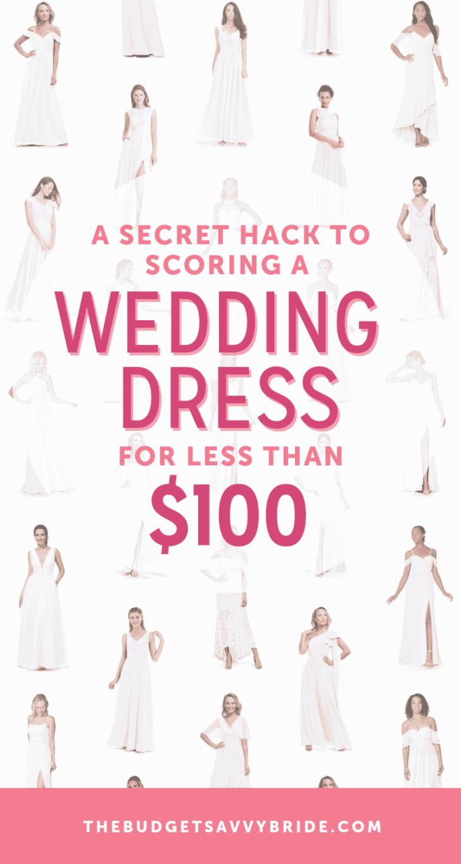 how to get a wedding dress under $100