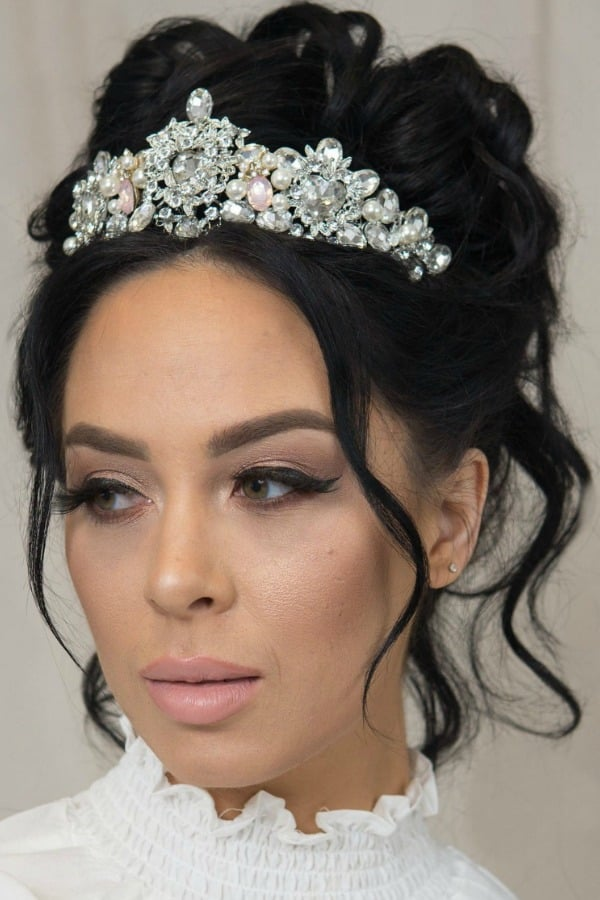 Unique Bridal Headpieces from Etsy | Blush Wedding Tiara by ChantelleReneeBridal