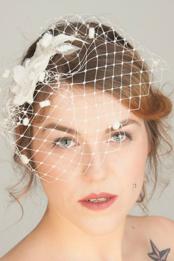 Unique Bridal Headpieces from Etsy | Bridal Veil And Fascinator by SeegangBerlin