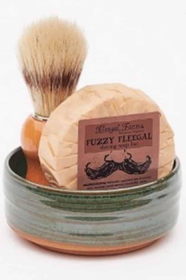 9th Wedding Anniversary Gift Ideas Ceramic Shaving Set By FleegalFarms
