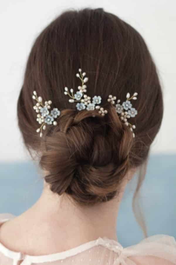 Unique Bridal Headpieces from Etsy | Forget Me Not Hairpins by Elibre