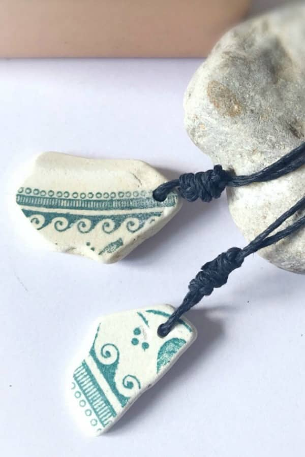9th Wedding Anniversary Gift Ideas His And Hers Sea Pottery Necklaces By ShoreThingsIOW