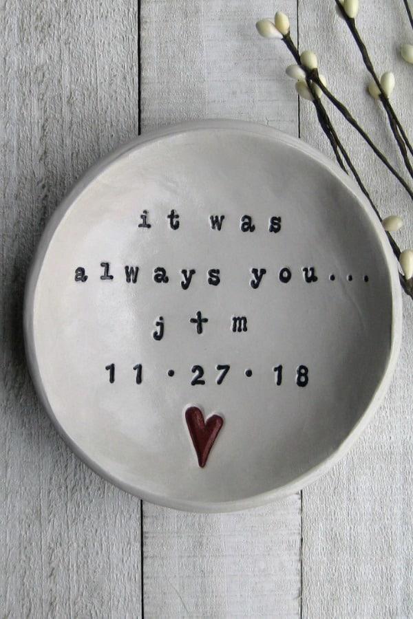 9th Wedding Anniversary Gift Ideas It Was Always You Pottery Bowl By elmstudiosonline