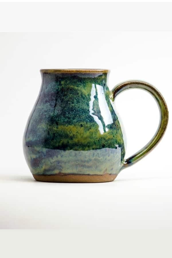 9th Wedding Anniversary Gift Ideas Northwoods Green Stoneware Mug By LuhtuCeramics