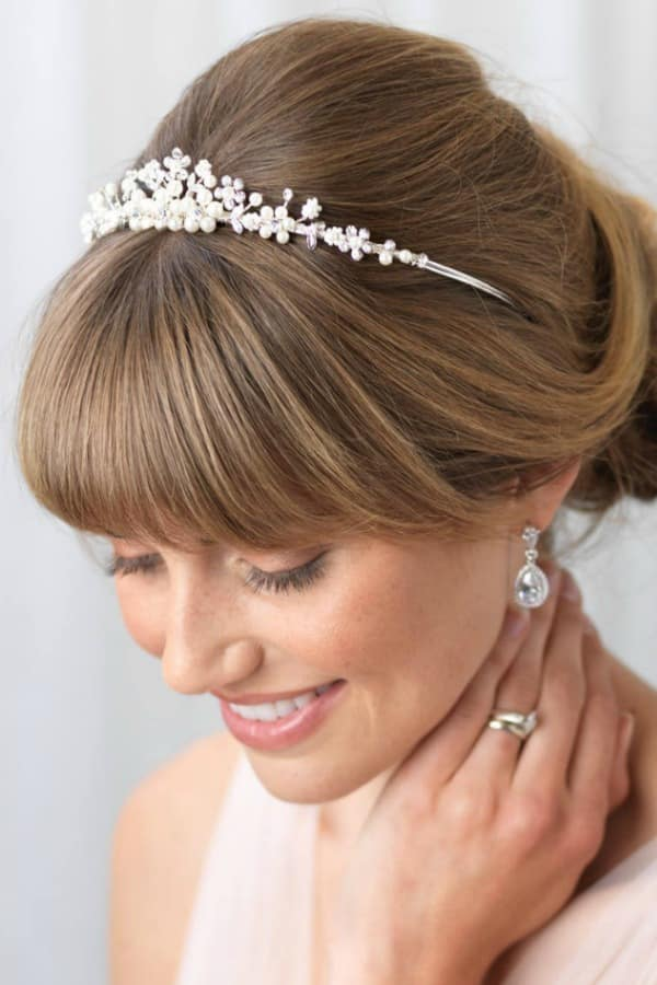 Unique Bridal Headpieces from Etsy - Sydney Tiara by DarethColburnDesigns