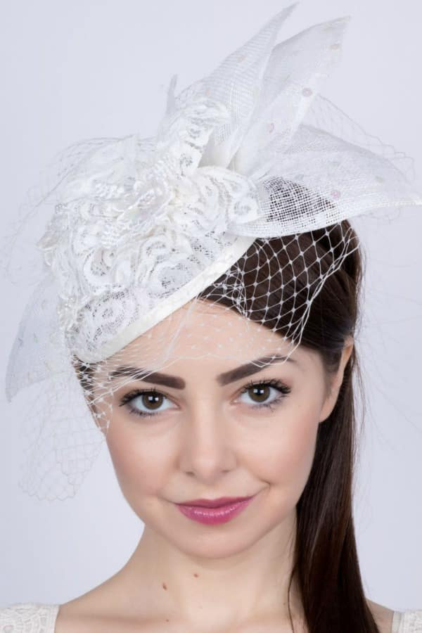 Unique Bridal Headpieces from Etsy - Wedding Lace Fascinator