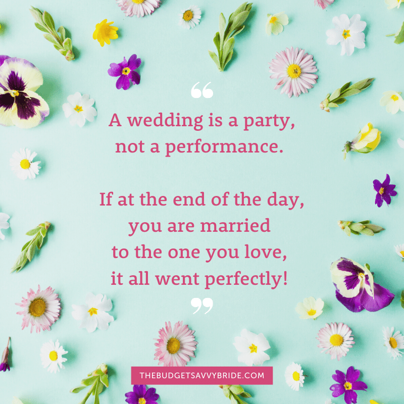 a wedding is a party not performance