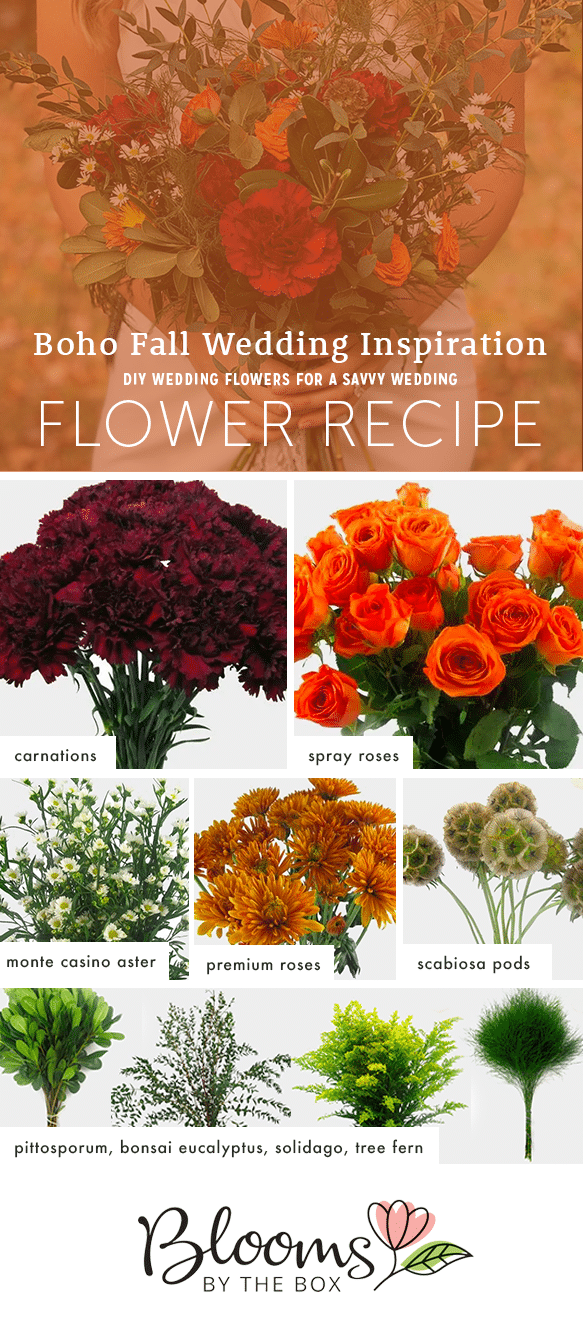 boho wildflower wedding flower recipe