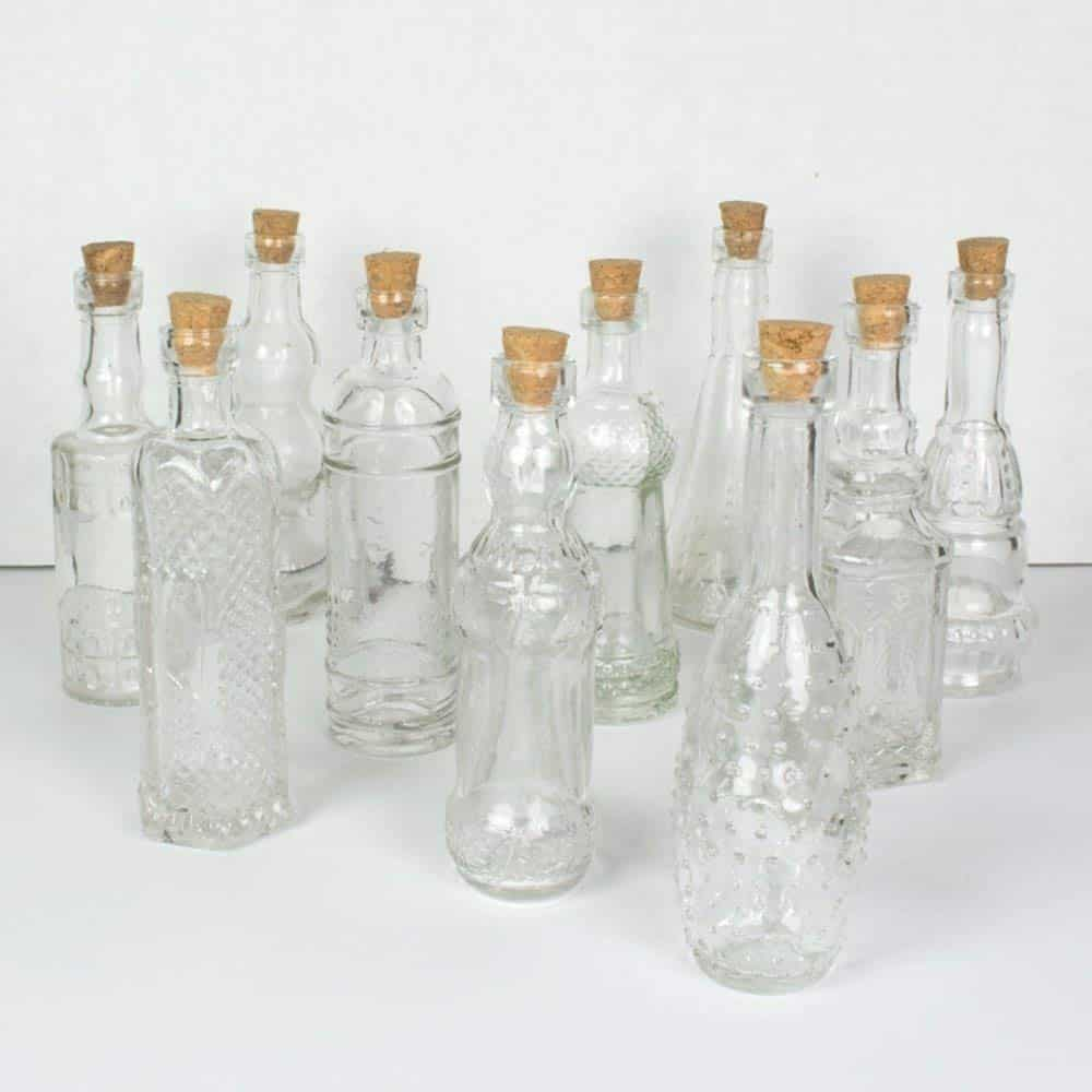 clear bud vases