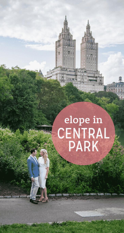 elope in central park