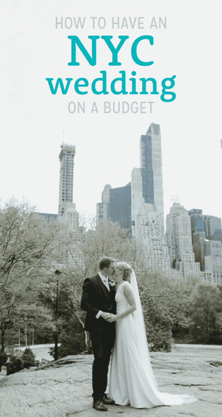 how to have an nyc wedding on a budget: get married in central park!